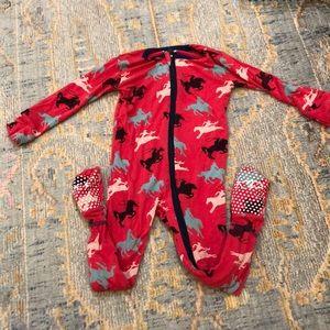 Kickee Pants size 9-12 mos cowboy print footies